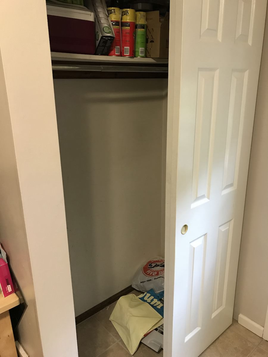 Captivating Blue Bell Custom Pantry   Closet Before