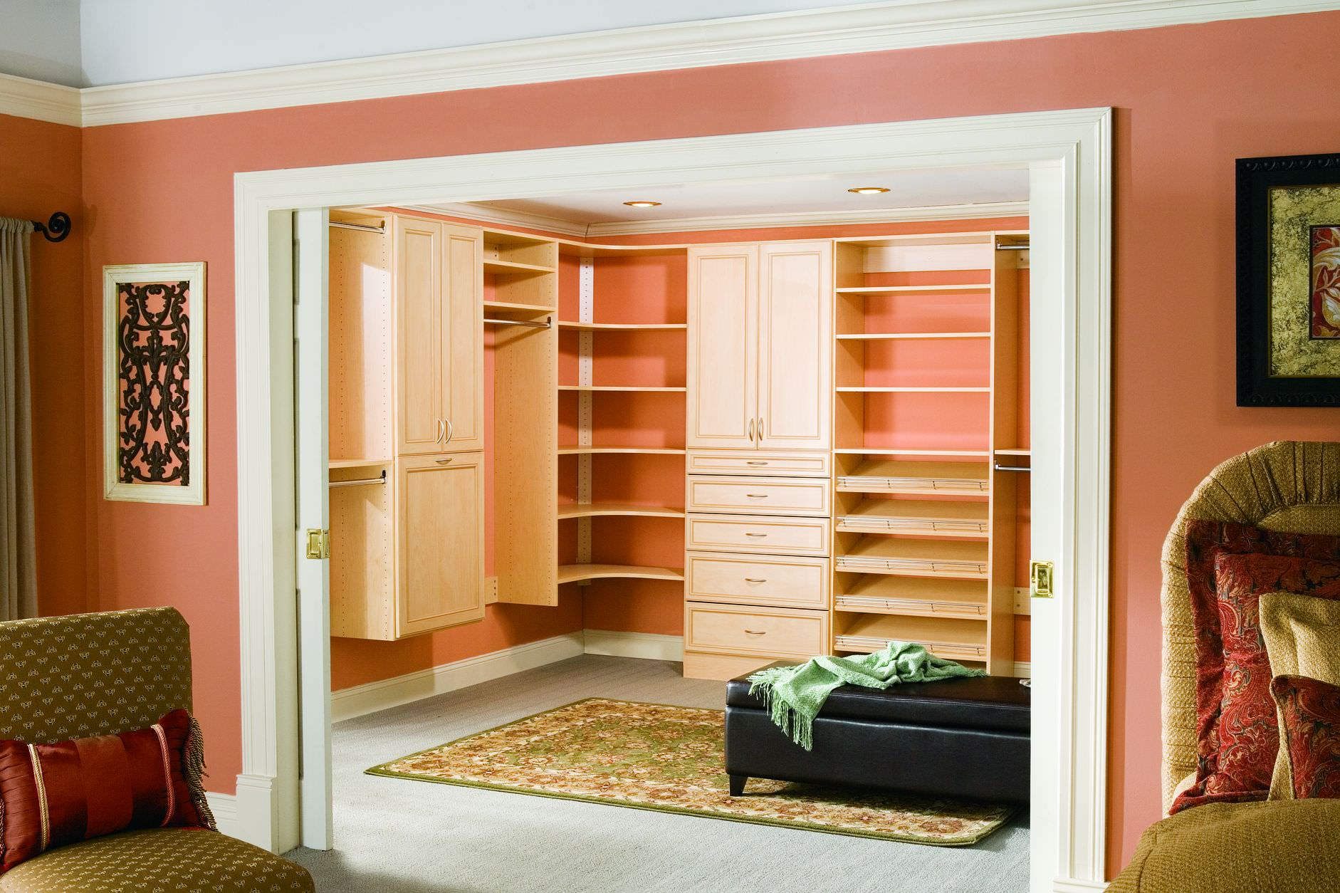 Maple Wood Custom Closet