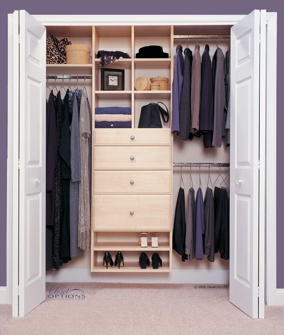 Reach-In Maple Closet
